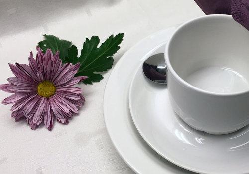 Dukning med kaffe- och thé kuvert, Tyresö Bygdegård