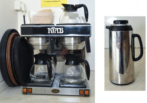 Kaffebryggare, stora köket