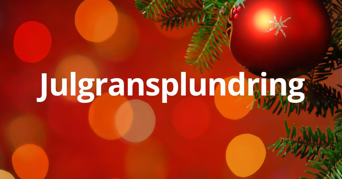 julgransplundring, Tyresö, bygdegård